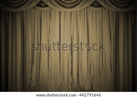 Open  theater curtain. 3d illustration - stock photo