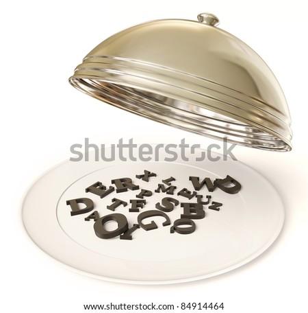 open tray  on a white background - stock photo