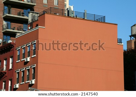 Open Wall on Side of Building - Great for a Sign - stock photo