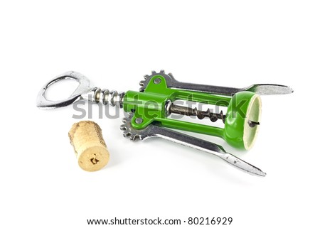 Open wine device isolated on white background