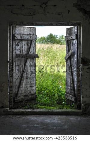 Open Barn Door open barn door stock images, royalty-free images & vectors