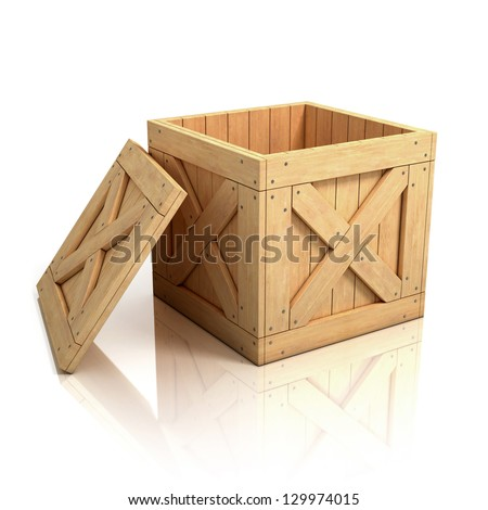 Open wooden crate stock illustration 129974015 shutterstock for Re storage crate