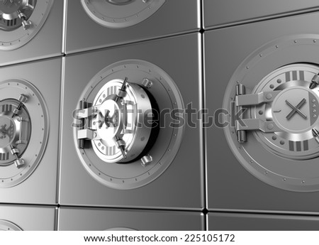 Opened bank deposit cell - stock photo