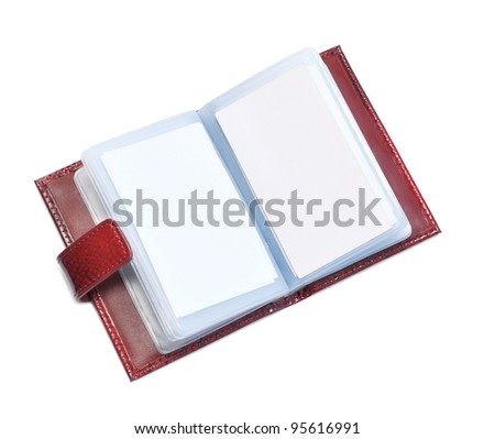 Opened blank book isolated on white - stock photo