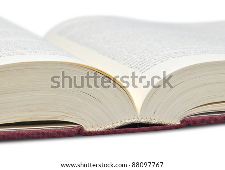 opened book detail - stock photo