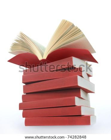 opened books - stock photo