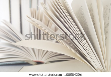 opened books close up - stock photo