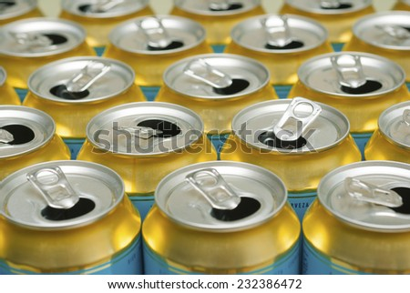 opened canned drinks