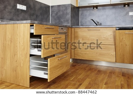 Opened drawers - stock photo