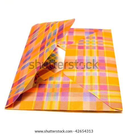 Opened envelope on white backgrounds - stock photo