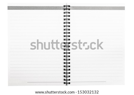 opened line notebook