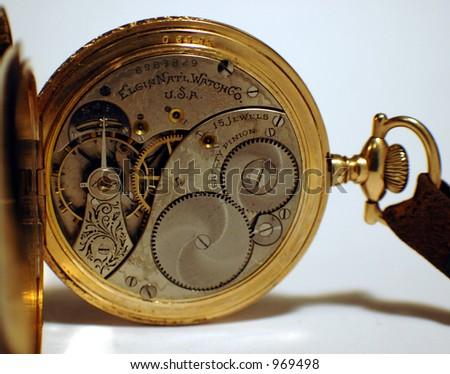 Opened Pocket Watch - stock photo