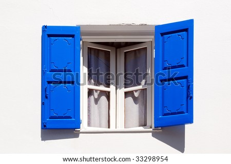 Opened Window - stock photo