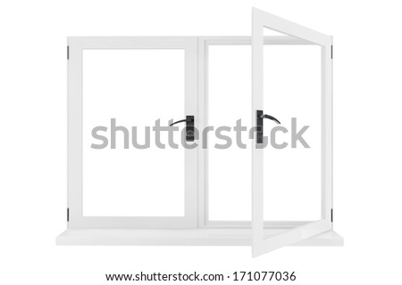 Opened Window isolated on a white background