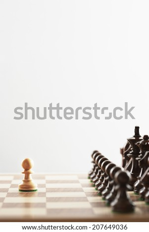 Opening Move in Chess Game - stock photo