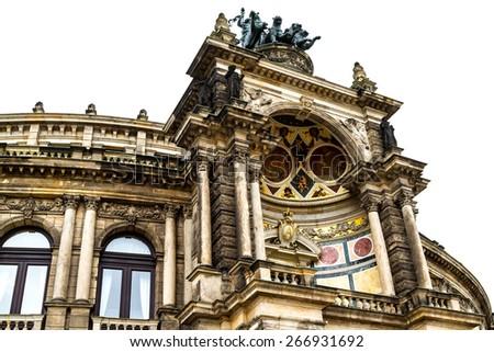 Opera building in Dresden , Germany  - stock photo