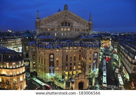 Opera house in Paris - stock photo