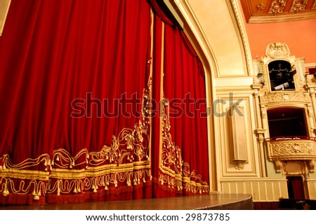 Opera House Interior - Stage and Balcony - stock photo