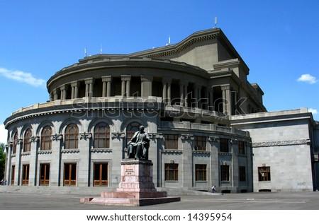 opera theater  building ,yerevan,armenia - stock photo