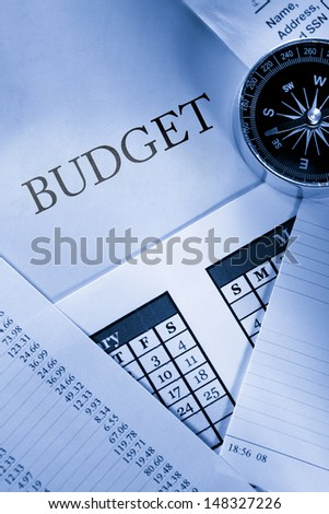 Operating budget, calendar and compass