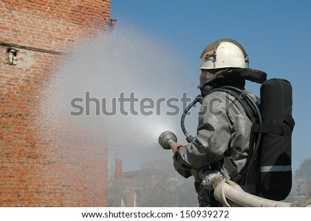 operation of chemical protection Emergency - stock photo