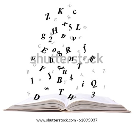 opne book - stock photo