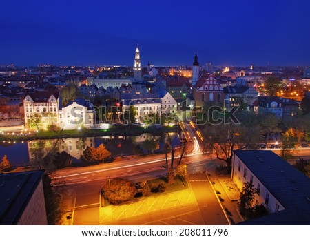 Opole by night