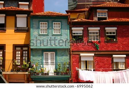 Oporto houses - stock photo