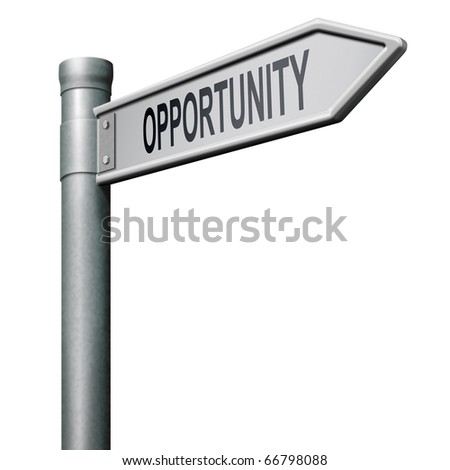 opportunity chance to follow the road towards success button icon - stock photo