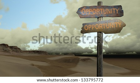 OPPORTUNITY-OPPORTUNITY - stock photo