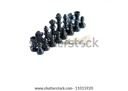 Opposition, chess game - stock photo