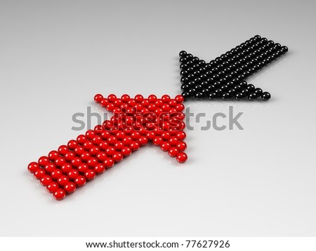 Opposition concept - stock photo