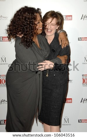 Oprah Winfrey and Anne Sweeney   at The Hollywood Reporter's Annual Women In Entertainment Breakfast. Beverly Hills Hotel, Beverly Hills, CA. 12-05-08 - stock photo