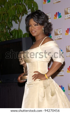 OPRAH WINFREY at the 2002 Emmy Awards in Los Angeles. 22SEP2002.  Paul Smith / Featureflash - stock photo