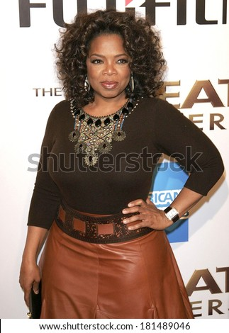 Oprah Winfrey at THE GREAT DEBATERS Premiere, ArcLight Cinerama Dome, Los Angeles, CA, December 11, 2007 - stock photo
