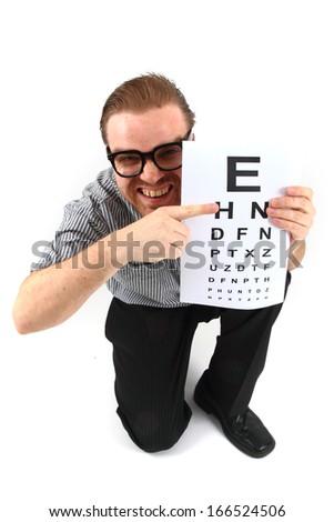 opthamologist isolated on white background - stock photo