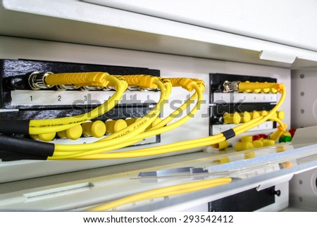 optic fiber - stock photo
