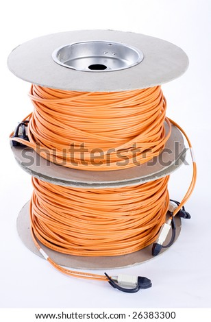 optic fiber cables connected