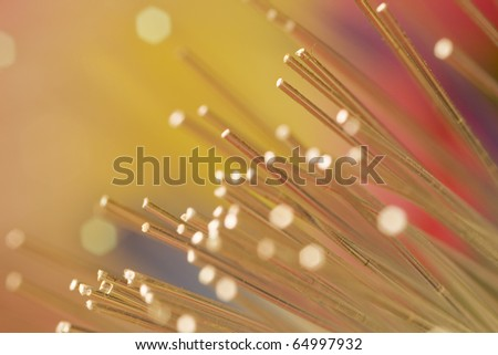 optic fiber colorful technology background - stock photo