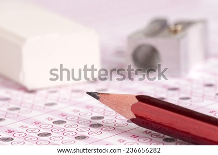 optical form of an examination - stock photo