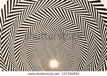 optical illusion  - stock photo