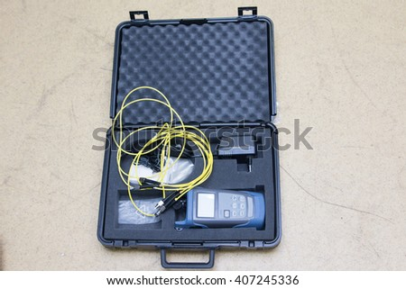 Optical power meter - stock photo