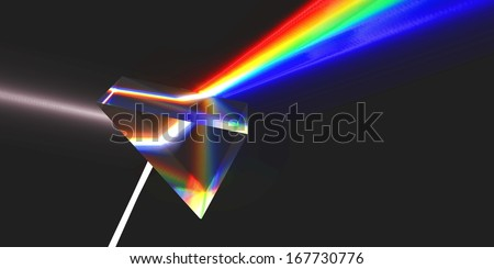 Optical prism with refraction (Rendering)