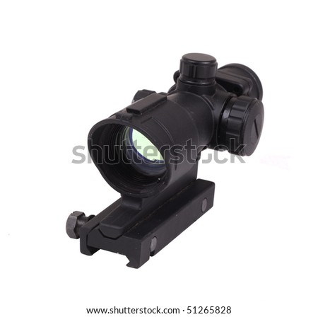 Optical scope. Isolated object on a white background