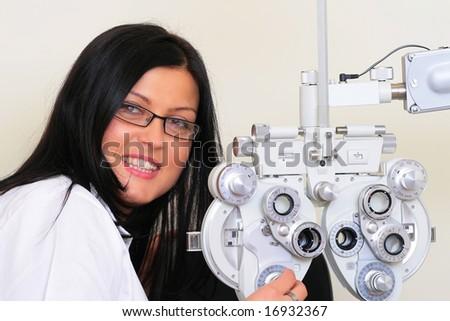 optician - stock photo