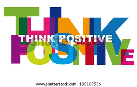 Optimism is a mental attitude or world view that interprets situations and events as being best. Colorful letters with transparent effects - stock photo