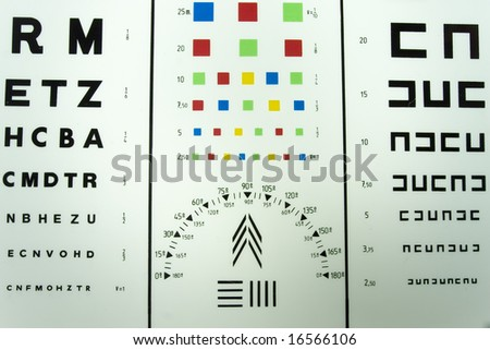 Optometric testing table - stock photo