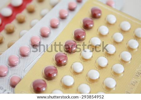 oral contraceptive pill - stock photo