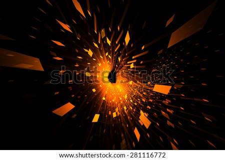 Orange abstract background - stock photo