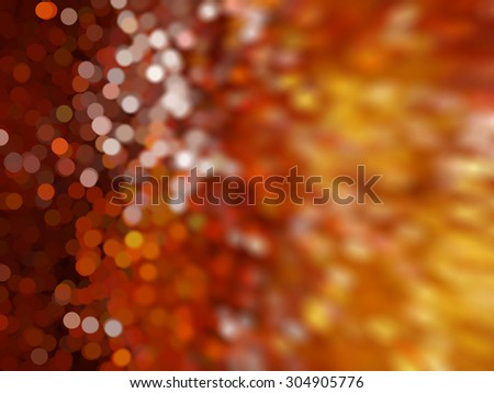 Orange abstract background holidays lights in motion blur image